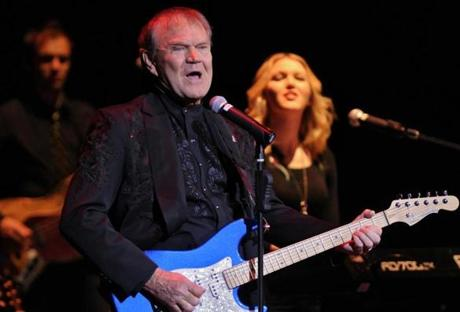 Glen Campbell (shown performing in Worcester last month) revealed last year that he has Alzheimer's disease.
